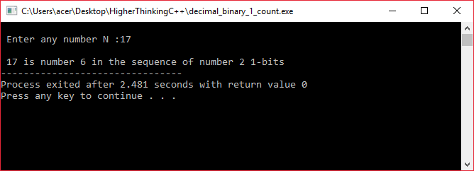 count_one_in binary_equivalent