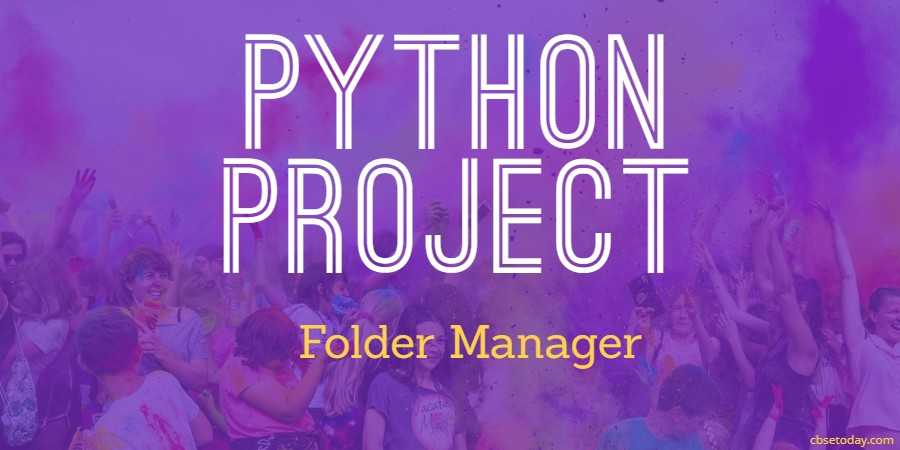 Python Project for class 11