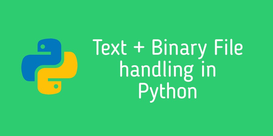 Text binary file handling in Python
