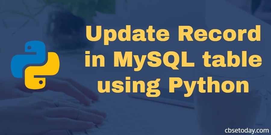 Update record in mysql table using python