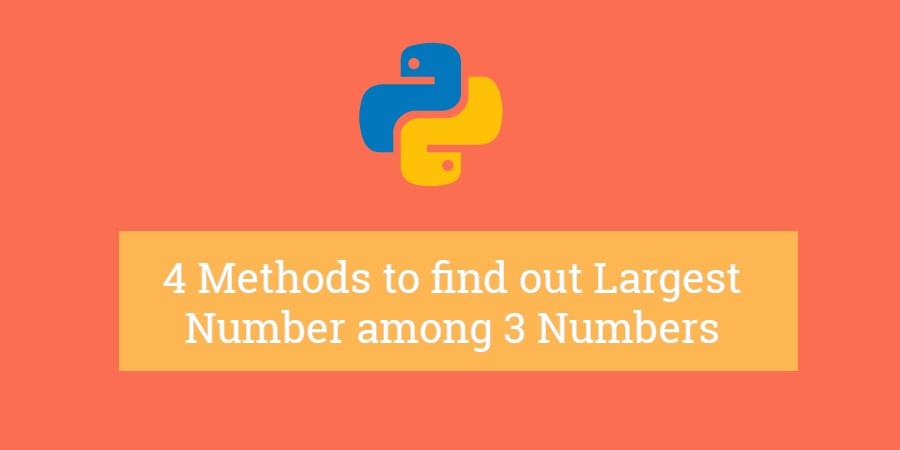 largest number among three numbers