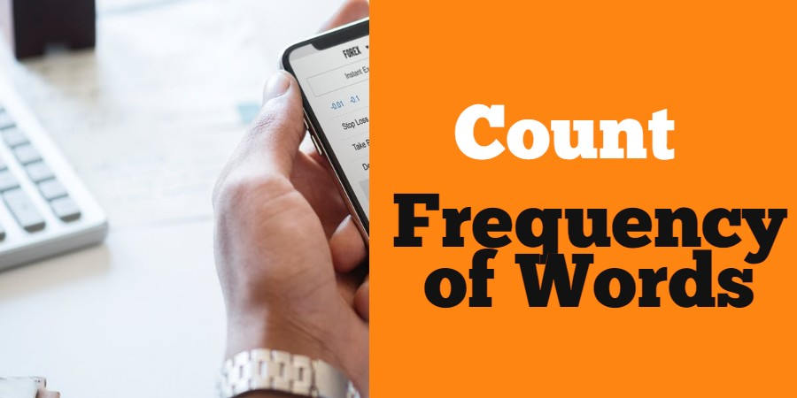 count frequency of word