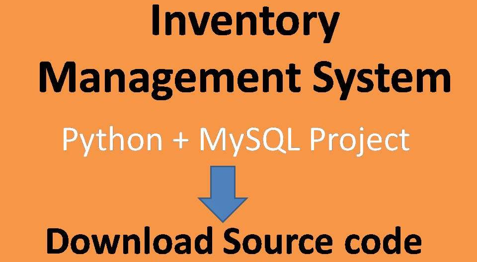 inventory management system Python Project